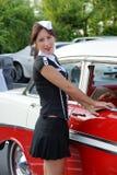 prowadnikowa restauracyjna kelnerka Zdjęcie Royalty Free