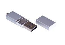 prowadnikowy błyskowy srebrzysty usb Zdjęcie Royalty Free