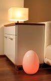 prowadząca jajeczna lampa Zdjęcia Royalty Free