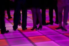prowadzący kolorowy parkiet taneczny Zdjęcia Royalty Free