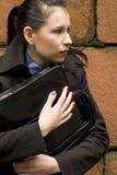 prowadzenia gospodarstwa portfolio kobieta Zdjęcia Stock