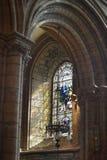 Prowadzenie plamiący w St Magnus kościół Kirkwall Orknay scotland obraz royalty free
