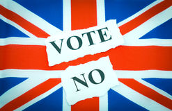 prowadzi kampanię żadnego głosowanie Zdjęcie Royalty Free