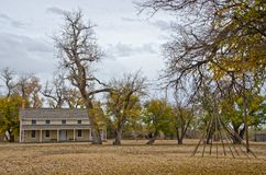 Prowers House at Boggsville Santa Fe Trail stock photography