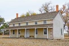 Prowers hus på Boggsville på Santa Fe Trail Royaltyfria Foton