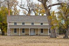 Prowers hus på Boggsville Santa Fe Trail Arkivfoto