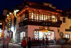 Prowincja Anhui Huangshan miasta Tunxi ulicy noc Obraz Stock