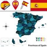 prowincje Spain ilustracja wektor