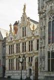 Prowincjonału Bruges dworski targowy kwadrat Zdjęcia Royalty Free