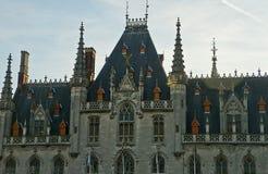 Prowincjonału Bruges dworski targowy kwadrat Zdjęcie Royalty Free
