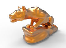 Prowling lioness. 3D illustration of a prowling lioness. The object is  on a white background with shadows Stock Photo