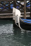 Prows of two gondolas Stock Images