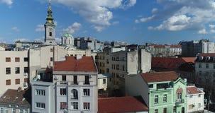 Proximité de St Michael Cathedral, Belgrade, vue aérienne banque de vidéos