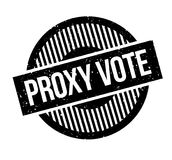 Proxy Vote rubber stamp. Grunge design with dust scratches. Effects can be easily removed for a clean, crisp look. Color is easily changed Stock Photo