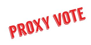 Proxy Vote rubber stamp. Grunge design with dust scratches. Effects can be easily removed for a clean, crisp look. Color is easily changed royalty free illustration