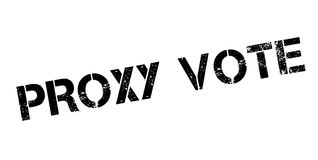 Proxy Vote rubber stamp Stock Photos