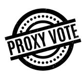 Proxy Vote rubber stamp. Grunge design with dust scratches. Effects can be easily removed for a clean, crisp look. Color is easily changed Royalty Free Stock Photos