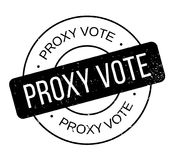 Proxy Vote rubber stamp royalty free illustration