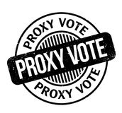 Proxy Vote rubber stamp. Grunge design with dust scratches. Effects can be easily removed for a clean, crisp look. Color is easily changed Royalty Free Stock Image