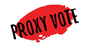 Proxy Vote rubber stamp. Grunge design with dust scratches. Effects can be easily removed for a clean, crisp look. Color is easily changed Royalty Free Stock Photo
