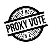 Proxy Vote rubber stamp. Grunge design with dust scratches. Effects can be easily removed for a clean, crisp look. Color is easily changed Stock Images
