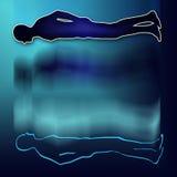 Proyección astral del cuerpo stock de ilustración