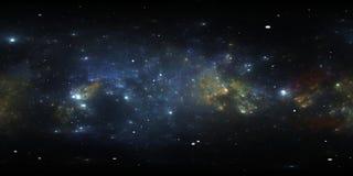 Proyección de 360 Equirectangular Fondo del espacio con la nebulosa y las estrellas Panorama, mapa del ambiente Panorama esférico libre illustration