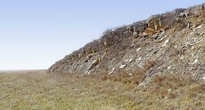 Proyección de piedra áspera en el Great Plains fotos de archivo libres de regalías