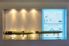 Proyectiles de artillería dirigidos Fotos de archivo libres de regalías
