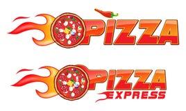 Proyecto 2 de las llamas de los exspress de la pizza Fotografía de archivo