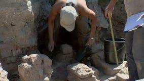 Proyecto arqueológico de Noviodunum almacen de metraje de vídeo