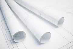 Proyecto arquitectónico stock de ilustración