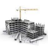 Proyecto de construcción en curso Foto de archivo