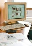 Proyecto de diseño de los muebles Imagenes de archivo