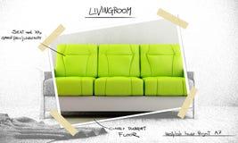 Proyecto de diseño interior stock de ilustración