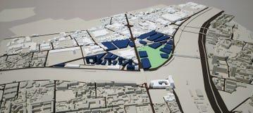 Proyecto de diseño urbano Foto de archivo