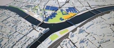 Proyecto de diseño urbano Imágenes de archivo libres de regalías