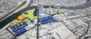 Proyecto de diseño urbano Imagen de archivo