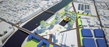 Proyecto de diseño urbano Imagenes de archivo