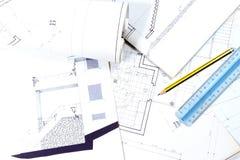 Proyecto de edificio imagen de archivo