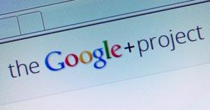Proyecto de Google+ Foto de archivo