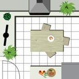 Proyecto de Kichen ilustración del vector