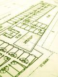 Proyecto de la construcción de edificios industriales Imagen de archivo
