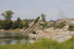 Proyecto de la limpieza de la tierra de la explotación minera de EPA Imagen de archivo libre de regalías