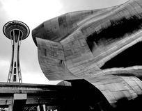 Proyecto de la música de la experiencia (EMP) en Seattle Imagen de archivo libre de regalías