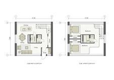 Proyecto de la pequeña casa libre illustration