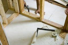 Proyecto de remodelado casero Foto de archivo
