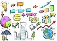 Proyecto del análisis de negocio ilustración del vector