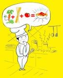 Proyecto del cocinero italiano Fotos de archivo