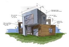 Proyecto del complejo de viviendas libre illustration